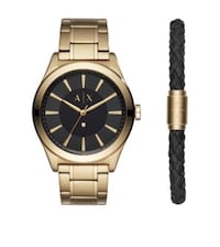 round black analog watch with link bracelet Hyattsville, 20782