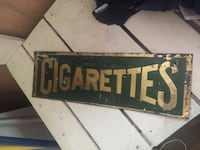 1930s embossed Cigarettes sign Somerset, 42503