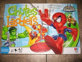 Super Hero Squad Chutes And Ladders Board Game