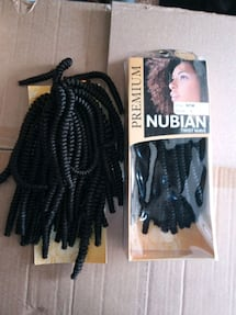 Nubian twist wave hair extensions synthetic