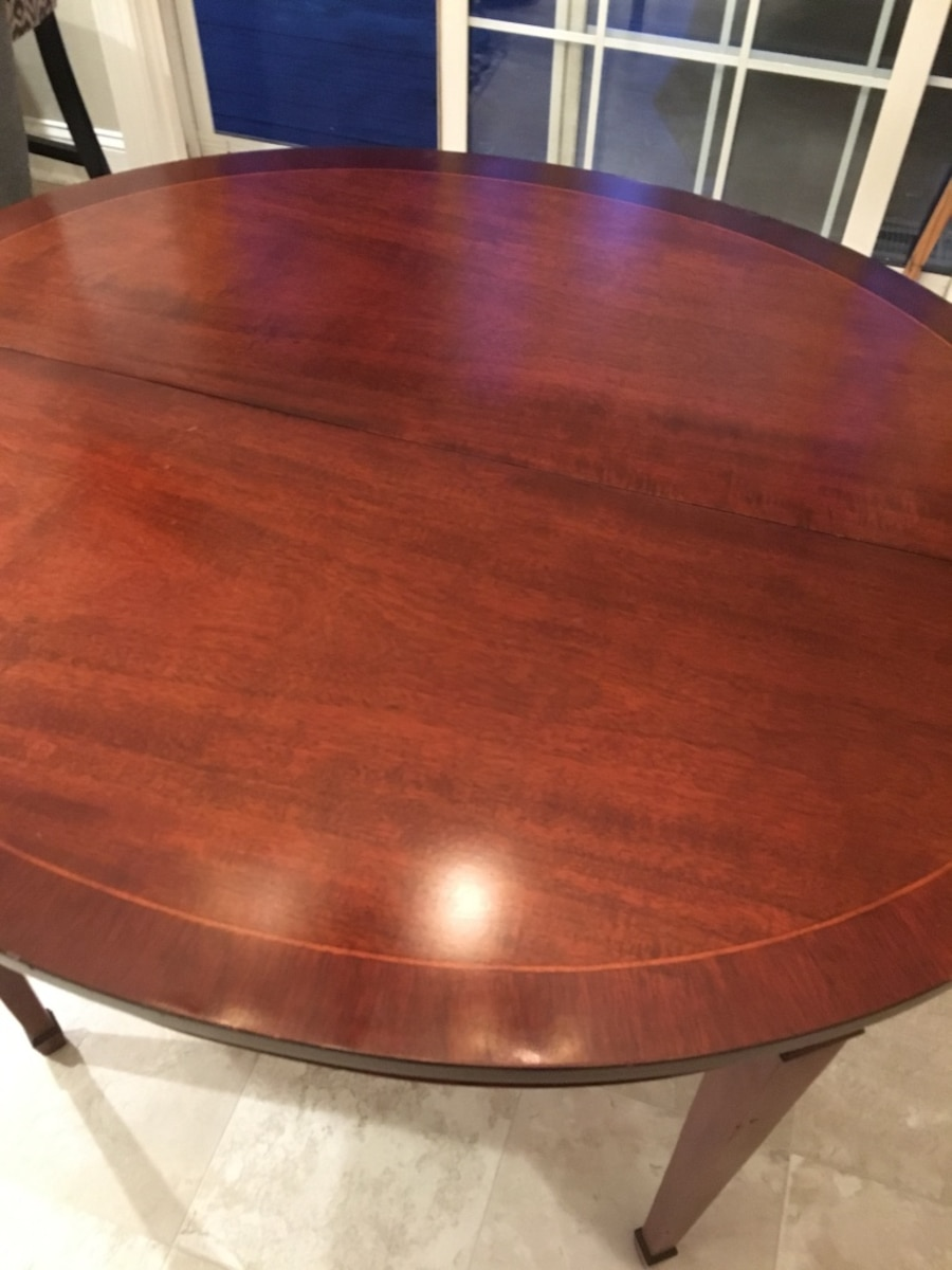 Used solid mahogany dining room table in raleigh for Dining room tables 38 inches wide