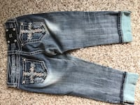 blue denim straight-cut jeans Wichita, 67205