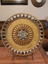 Beautiful home decor. 22 in across Comes with stand and very heavy  Bells, 38006