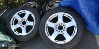 "16"" chrome rims 5x114.3.   215/55/r16 new tires an Bowie, 20715"
