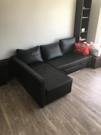 Black leather sectional sofa with ottoman Burnaby, V5B 1S3