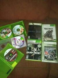 Xbox with 7 games with extras