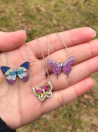 925 Sterling Silver Butterflies Necklaces