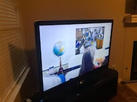 "Sharp 60"" glass TV and entertainment center Austin, 78727"