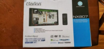 Clarion double din car stereo