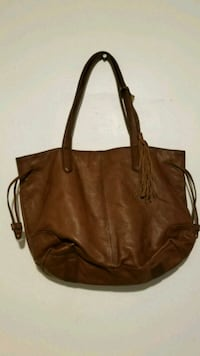 brown leather 2-way handbag Jersey City, 07305