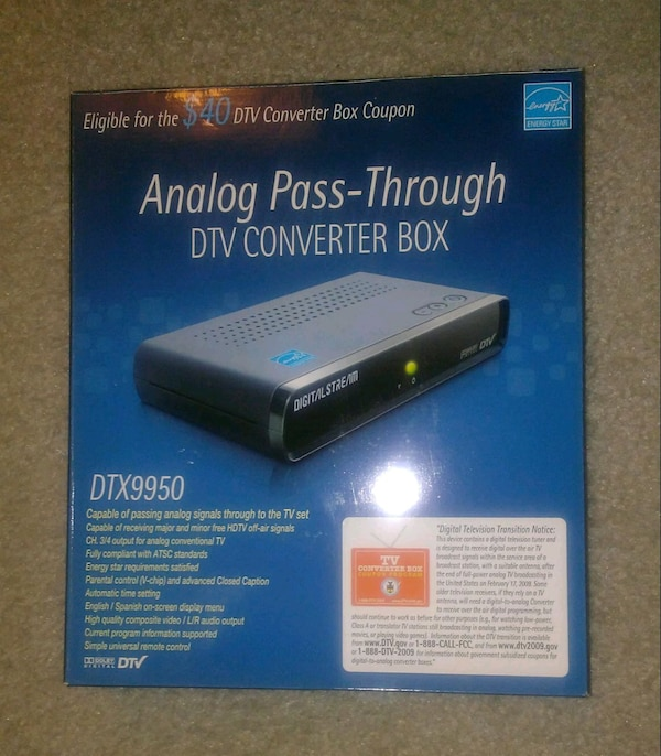 Analog Pass-Through DTV Converter Box DTX9950