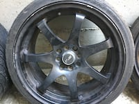 Set 4 tires and rims 205/40/17 ,4 hole universal,came from Toyota Yaris  Surrey, V4N 5G1