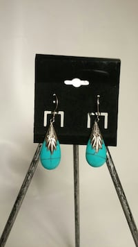NEw 925 real silver & turquoise earings Toronto, M4Y 2X4