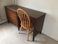 """4 hardwood drawers desk. Solid condition! LWH:59x19x30"""". Londonderry, 03053"""