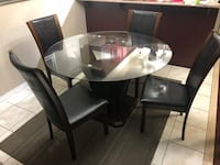 Glass Dining Table - 4 Seater Ajax, L1T 4M3