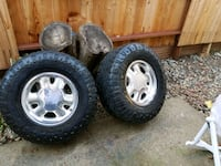 four gray 5-spoke vehicle wheels and tires Citrus Heights, 95610
