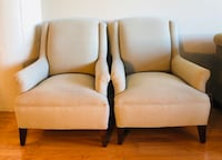 Two mint blue fabric sofa chairs Chicago, 60608