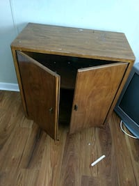 brown wooden armoire must go today