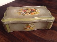 Vintage hinged floral Dutch tin Toronto, M1P 4S4