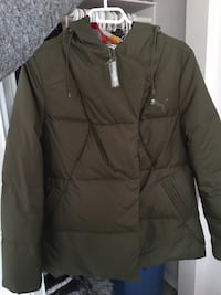 Size small but fits big PUMA downfilled coat olive green with tag Edmonton, T5L 2E6