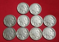Lot of 10 Indian Head Buffalo Nickel Coins Glendale, 91205
