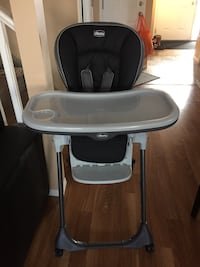 baby's black and white high chair Edmonton, T6M 0K6