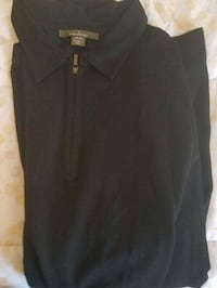 Mens half zip Zegna black shirt. New $195. Gainesville
