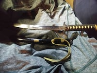 brown handled katana