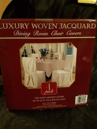 4 Woven Jacquard Chair Covers Chicago