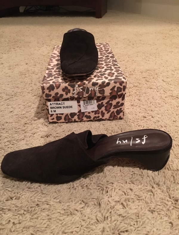 FS/NY French Soles Brown Suede Attract Size 8 b474a75b-1fdd-4c94-bc40-6a0e6293967c