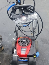 black and red Power Flow plus pressure washer