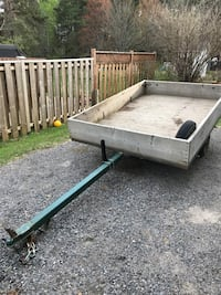 "5 X 8 utility trailer. New wheels. New axel. Removable gate. Greased faithfully. 12"" Sides Sundridge, P0A"