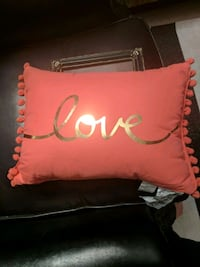 red Love-printed throw pillow Independence