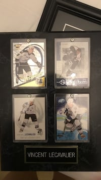 Vincent Lecavalier framed hockey cards
