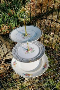 round white and pink floral 3-layer rack Rockville, 20852