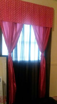 Pink Curtains with Furry Valance Brandon, 33510
