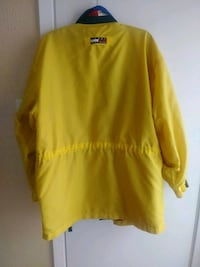 yellow and black Tommy Hilfiger jacket