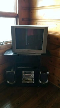 gray CRT TV with TV stand Toms River, 08753