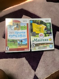 Wii Sports and Tiger Woods Masters unopened games Washington, 20012