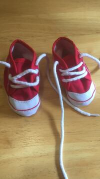 Red and White Baby Shoes Wallis, 77485