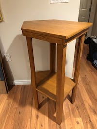 brown wooden 2-layer side table Edmonton, T5J 0K1