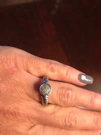 Diamond ring size 7 in sterling silver