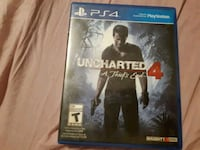 Uncharted 4 PS4 game case Waterloo, N2J 2A2