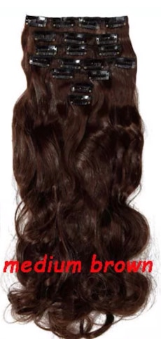 Nytt clip-in hair extensions medium brunt