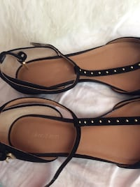 Pair of black leather ankle strap sandals Calvin Klein's  Toronto, M9W 6L5