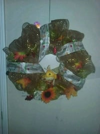 green and red floral wreath Orange, 92865
