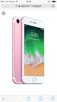 iPhone 7 32GB rosa Hafrsfjord, 4046