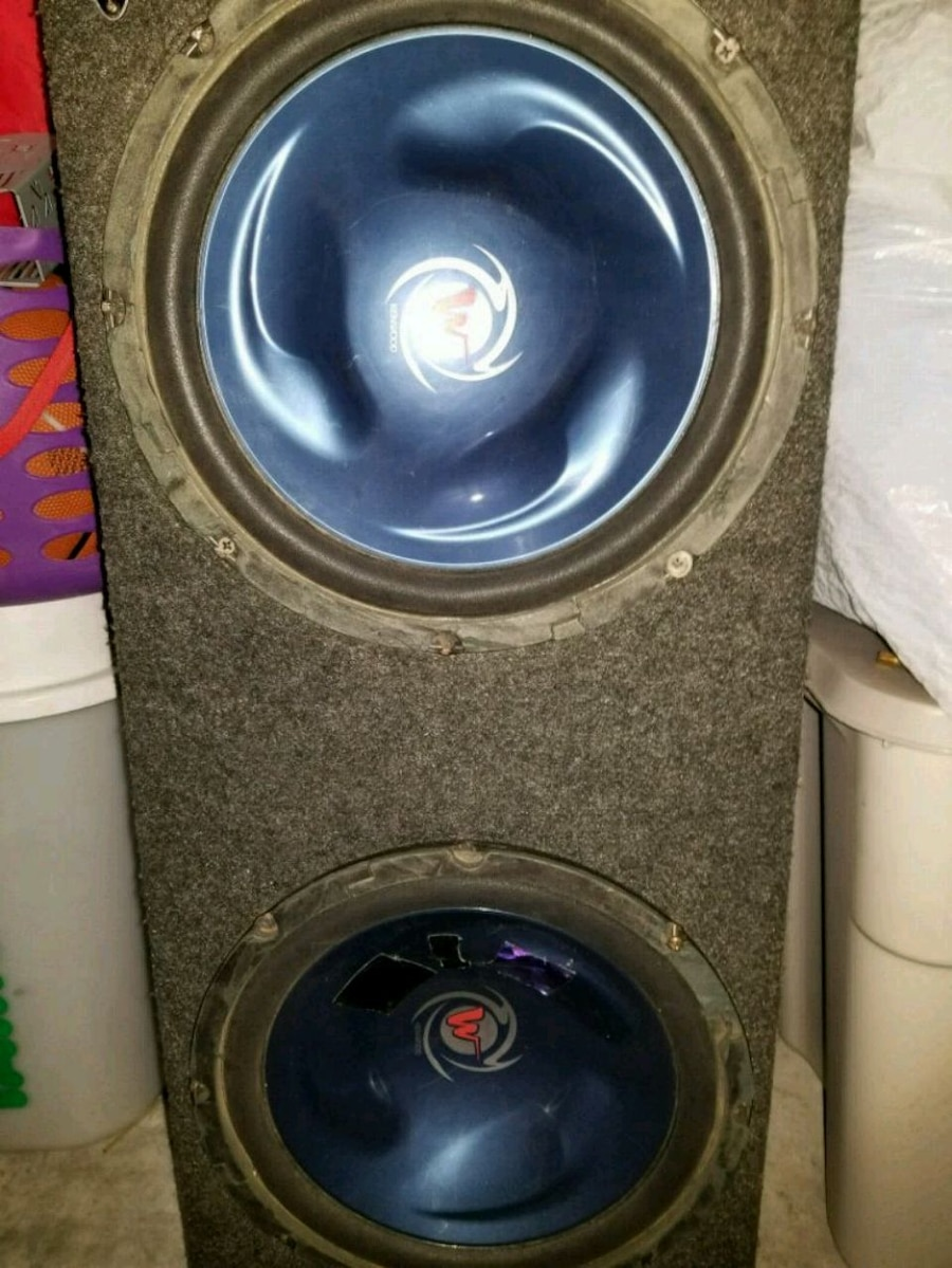 Photo Need a Amp2? Two->Old school 12 inch Kenwood subs