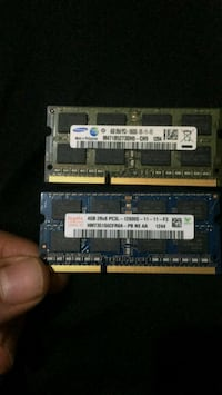 2 tane 4 GB ddr 3 laptop ram i
