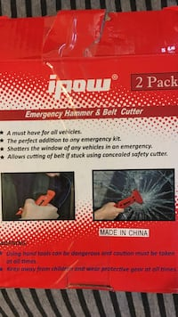 ipow emergency hammer & belt cutter 2 pack box Freehold township, 07728